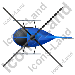 Helicopter Top Blue Icon, PNG/ICO, 256x256