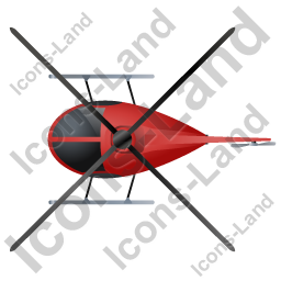 Helicopter Top Red Icon, PNG/ICO, 256x256