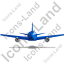 Airliner Back Blue Icon