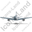 Airliner Back Grey Icon