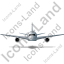 Airliner Front Grey Icon