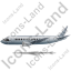 Airliner Left Grey Icon