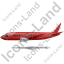 Airliner Left Red Icon, PNG/ICO, 64x64