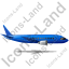 Airliner Right Blue Icon, PNG/ICO, 64x64