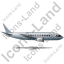 Airliner Right Grey Icon, PNG/ICO, 64x64
