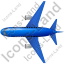 Airliner Top Blue Icon