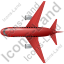 Airliner Top Red Icon, PNG/ICO, 64x64