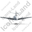 Airplane Back Black Icon, PNG/ICO, 64x64