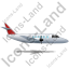 Airplane Right Red Icon, PNG/ICO, 64x64