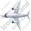 Airplane Top Grey Icon