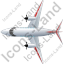 Airplane Top Red Icon, PNG/ICO, 64x64