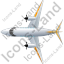 Airplane Top Yellow Icon, PNG/ICO, 64x64