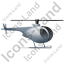 Helicopter Right Grey Icon, PNG/ICO, 64x64