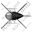 Helicopter Top Black Icon