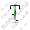 Bicycle Back Green Icon