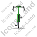 Bicycle Front Green Icon, PNG/ICO, 128x128