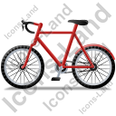 Bicycle Left Red Icon