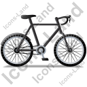 Bicycle Right Black Icon, PNG/ICO, 128x128