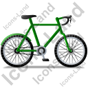 Bicycle Right Green Icon, PNG/ICO, 128x128