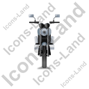 Cruiser Motorcycle Front Grey Icon, PNG/ICO, 128x128