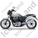 Cruiser Motorcycle Left Grey Icon