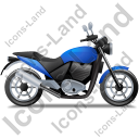 Cruiser Motorcycle Right Blue Icon, PNG/ICO, 128x128
