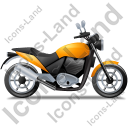 Cruiser Motorcycle Right Yellow Icon, PNG/ICO, 128x128