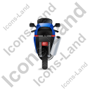Motorcycle Back Blue Icon, PNG/ICO, 128x128
