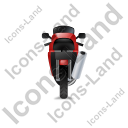 Motorcycle Back Red Icon, PNG/ICO, 128x128