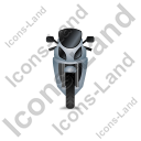 Motorcycle Front Grey Icon, PNG/ICO, 128x128