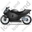 Motorcycle Left Black Icon
