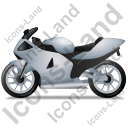 Motorcycle Left Grey Icon, PNG/ICO, 128x128