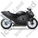 Motorcycle Right Black Icon, PNG/ICO, 128x128