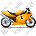 Motorcycle Right Yellow Icon, PNG/ICO, 128x128