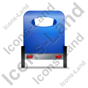 Pedicab Back Blue Icon, PNG/ICO, 128x128