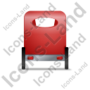 Pedicab Back Red Icon, PNG/ICO, 128x128