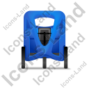 Pedicab Front Blue Icon, PNG/ICO, 128x128