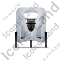 Pedicab Front Grey Icon, PNG/ICO, 128x128