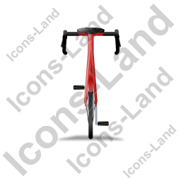 Bicycle Back Red Icon