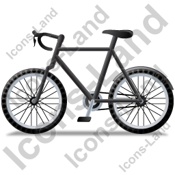 Bicycle Left Black Icon