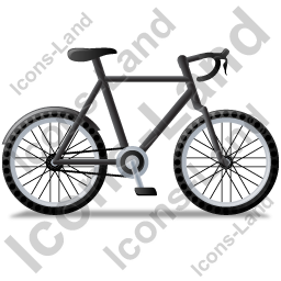 Bicycle Right Black Icon, PNG/ICO, 256x256