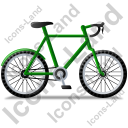 Bicycle Right Green Icon, PNG/ICO, 256x256