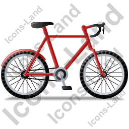 Bicycle Right Red Icon