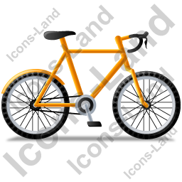 Bicycle Right Yellow Icon