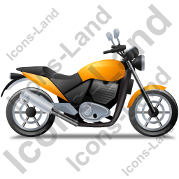 Cruiser Motorcycle Right Yellow Icon, PNG/ICO, 256x256