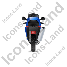 Motorcycle Back Blue Icon, PNG/ICO, 256x256