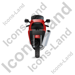 Motorcycle Back Red Icon, PNG/ICO, 256x256