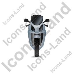 Motorcycle Front Grey Icon, PNG/ICO, 256x256
