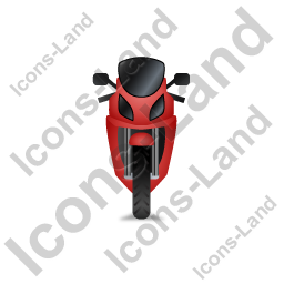 Motorcycle Front Red Icon, PNG/ICO, 256x256