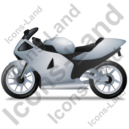 Motorcycle Left Grey Icon, PNG/ICO, 256x256